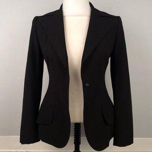 Dolce & Gabbana Womens Size US 2 Wool Blazer Black